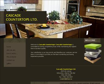 Cascade Countertops   Countertop Company Edmonton Web Screenshot